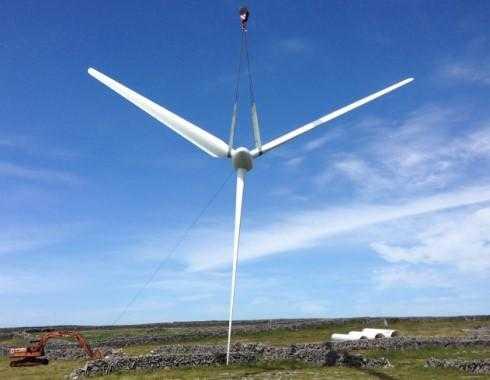 Vestas V27 - Dismantling Isle of Innishman